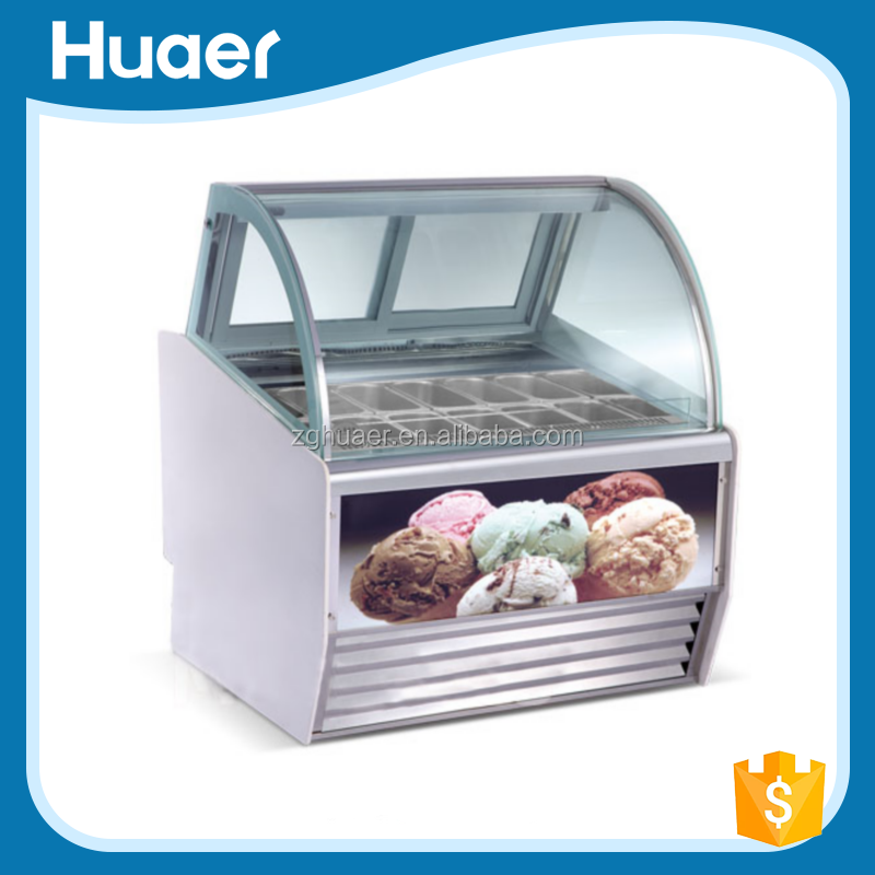 China produce Single-temperature within -10 degree and -22 degree ice cream display cabinet of top quality and favorable price