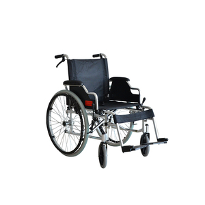 ABS solid tyre steel frame hospital manual wheel chair handicapped folding wheelchair DS6025LN