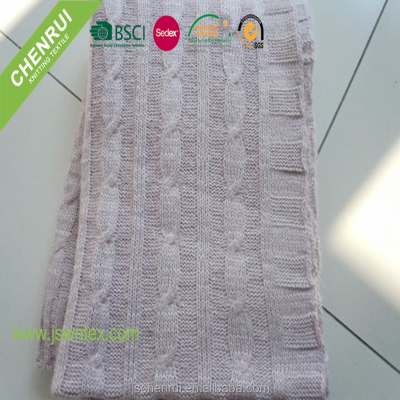 Mohair 127*152cm adult knitted throw blanket