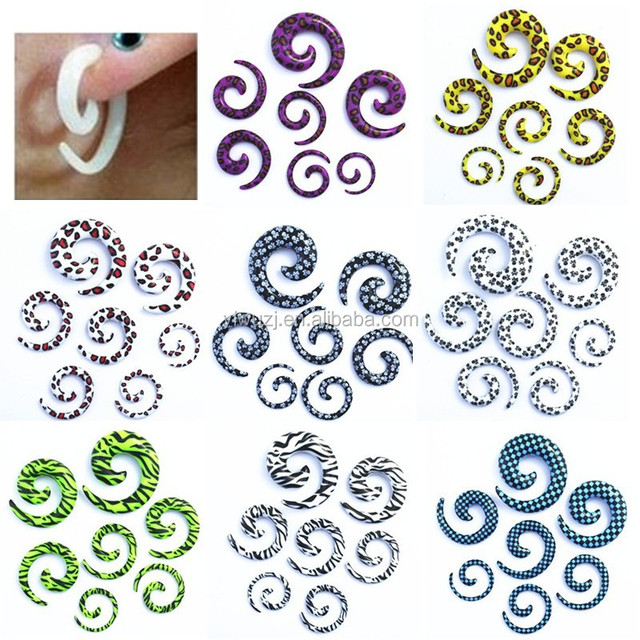 2014 Fashion Fake snail ear tunnel plug Ear Expander body piercing jewelry tapers