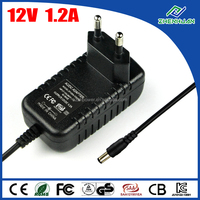 230V to 12V power adaptor 12V 1200mA AC adapter with high quality