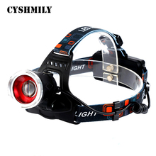 CYSHMILY Outdoor miner's lamp camping light xml-t6 dual light source energy saving motorcycle head lamp