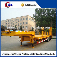 Factory Supplier Steel Material 40Tons Low Bed Trailer Dimensions