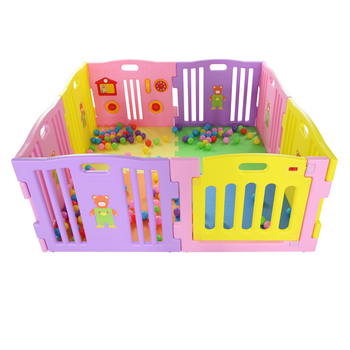 8panel innovative baby pink plastic playpen children yard pen(with ASTM F963) baby product