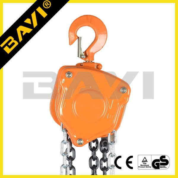 VC-A specifications of chain block/manual chain pulley block used on a boat
