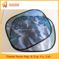 screen printing foldable cheapest customized logo side window car sun shade customized
