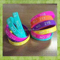 Top quality personalized wholesale braided rubber bracelets