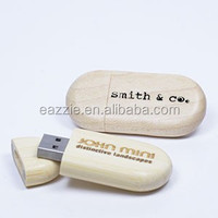 Wooden USB Flash Drives Gift USB Drives Custom Printing for Promotion