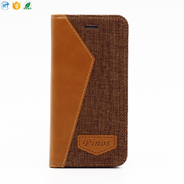 2017 alibaba hot selling Touch Sensitive Clear luxury Smart Flip Mirror leather phone Case for iphone 7