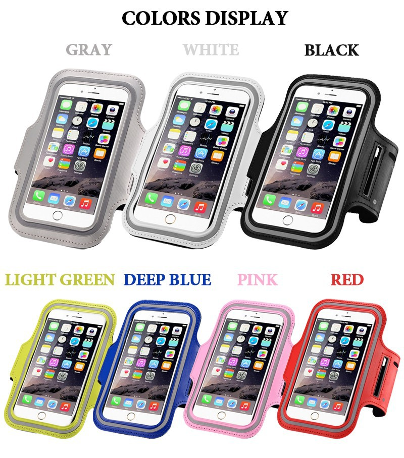 2017 Hot Sale Nylon Sport Armband Rainproof Case Universal For iPhone 6 6S 7 Plus, Armband for Samsung