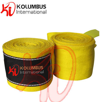 Mexican Style Hand Wrap, Yellow Hand Wrap Made In Polyester And Cotton Yarn Hand Wrap, Boxing Hand Wrap And Bandage