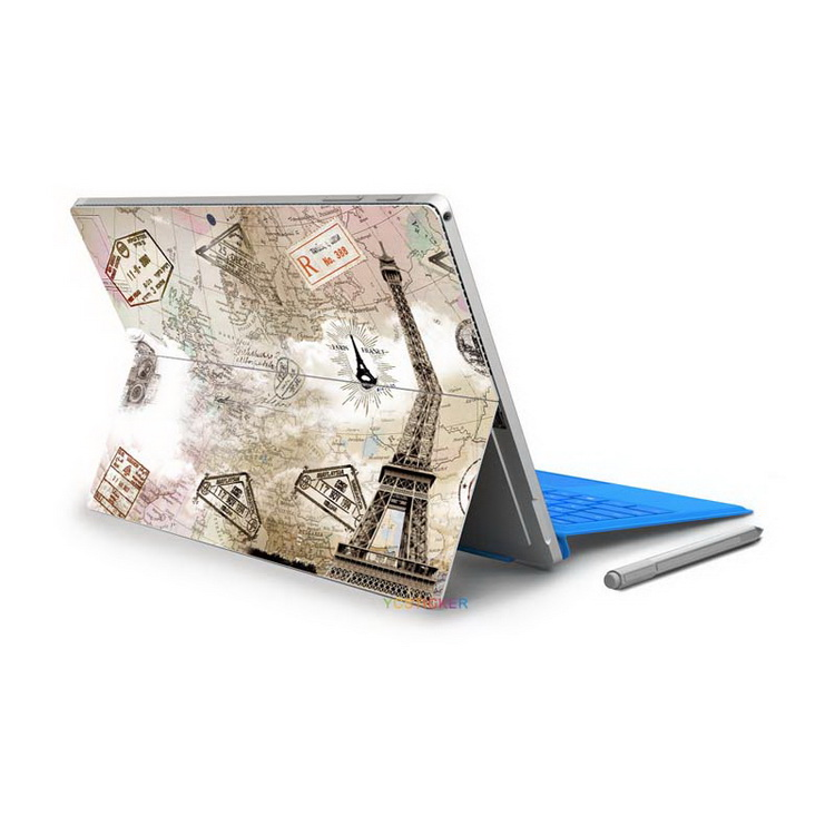 2017 new hot scracth-proof wraps vinyl removable laptop decorative decal stickers film for Microsoft Surface Pro 4 Skins
