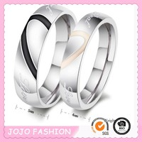 Love titanium ring without stone