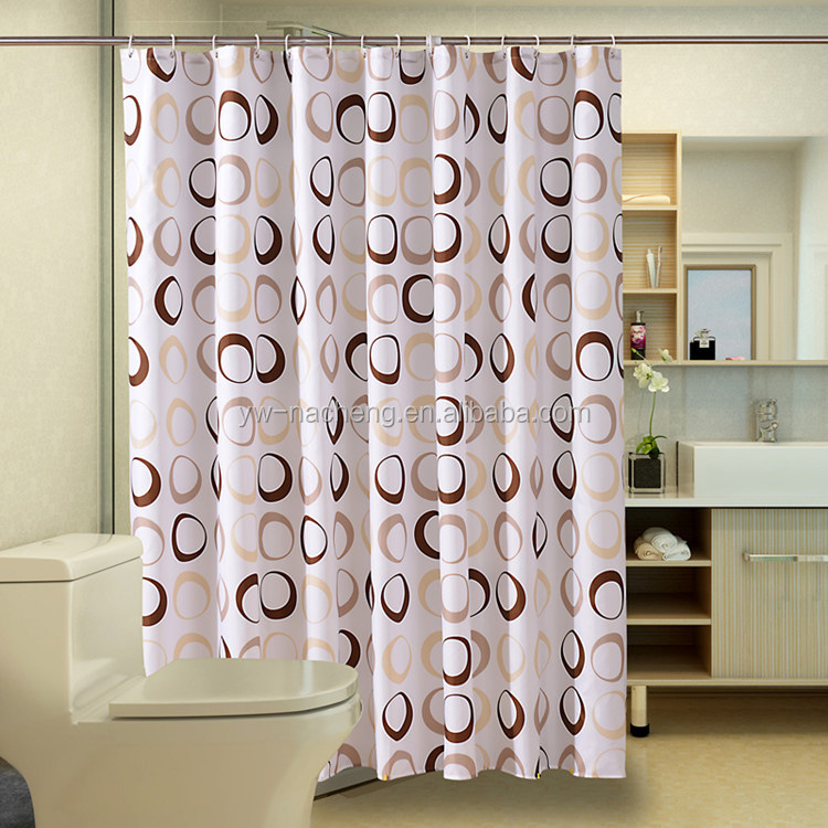 Custom design printed christmas polyester shower curtain fabric