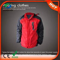 HJ08 7.4v Heated New winter women jacket model with high-tech electric heating system battery heated clothing