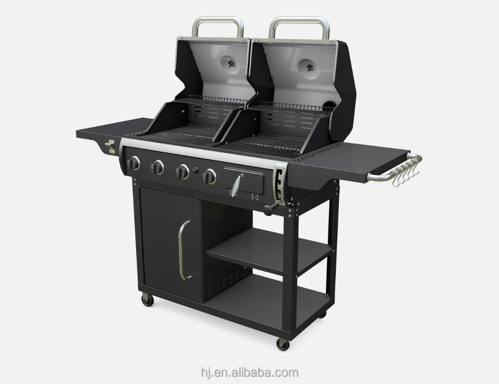 gaz et combinaison de charbon de bois grill grille de barbecue id de produit 60121022198 french. Black Bedroom Furniture Sets. Home Design Ideas