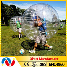Hot sale 1.00mmPVC/TPU human hamster bump zorb ball