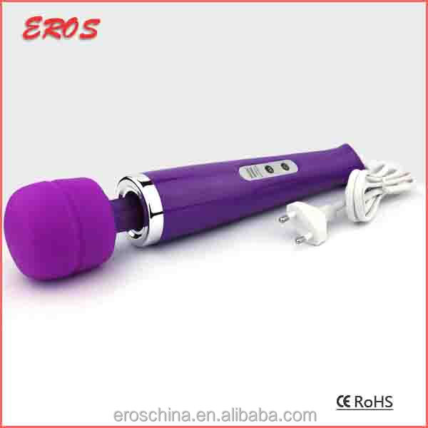 Funny Pussy Stimulate 10 Speed Vibrator, Long Handle Plug In Vibrator Wand