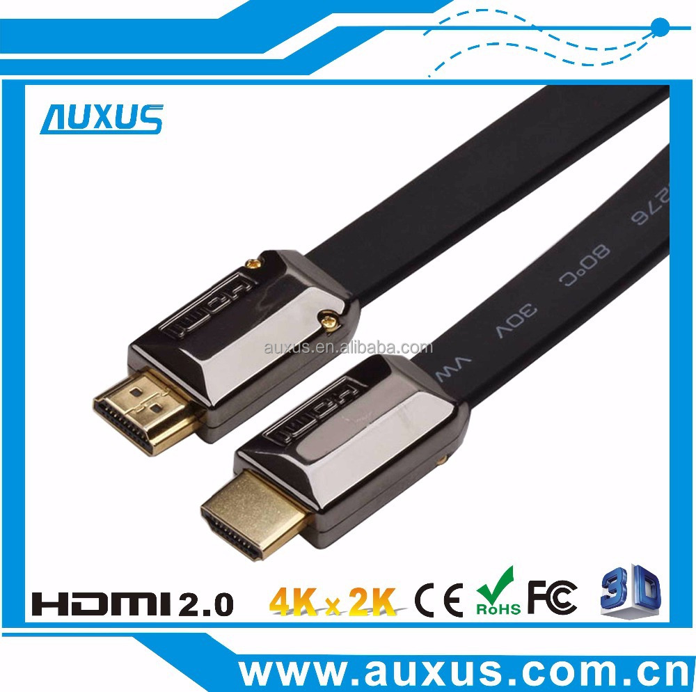 Metal flat HDMI 1.4 flat cable support 3D,4K*2K,10.2Gbps,2160P