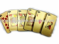 golden Poker hard case back cover for iphone 4 4G