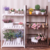 3 Tier Folding Wood Flower Pot Shelf Stand Wooden Display Rack Indoor Outdoor Garden