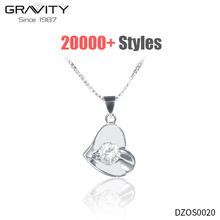 Korea 925 silver diamond body fancy long chain woman jewelry heart pendant name plate couple necklace fashion accessories
