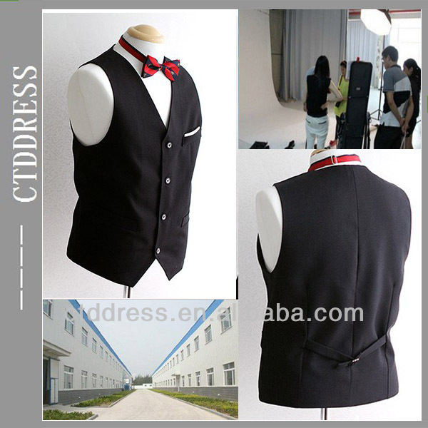 Fashion men Black wedding waistcoats for men 2014 new year
