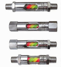 The flow confirmation coupling which can be attached to a hydraulic and pneumatic component