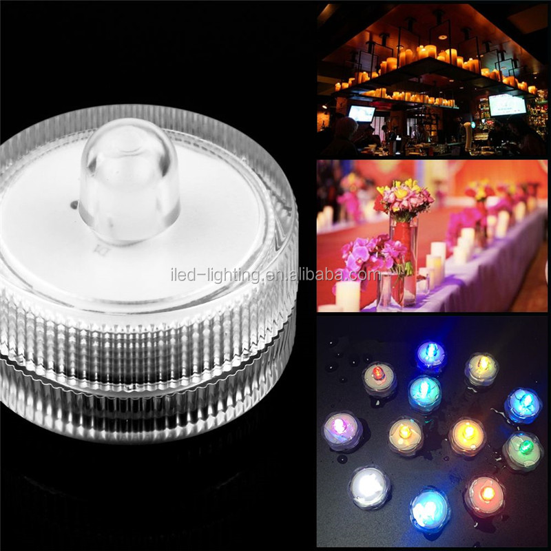 Waterproof 12pcs pack Mini LED Submersible Lights 2pcs CR2032 Batteries LED Candle Tea Light for Wedding Events Decor