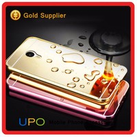 [UPO] New Arrival 2 in 1 Aluninum Bumper Electroplating pc Mirror Back Cover for Meizu m1 note