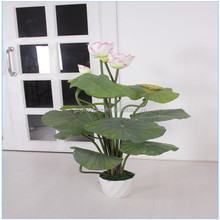 SJA0139 china wholesale small plant in a pot for indoor artificial lotus plant