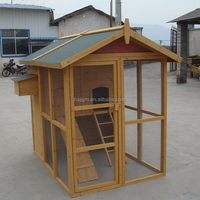 outdoor wooden animal house chicken coop