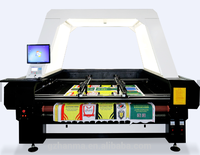 Vision Identity Camera Co2 Laser Cutting Machine for Garment Textile Sublimated Printed Fabric Various Soft Fabric