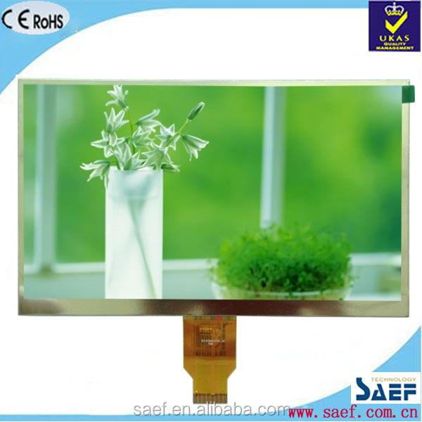 "10.1"" screen square lcd display panel transparent glass Landscape type WSVGA 1024*600 without TP TFT lcd module"