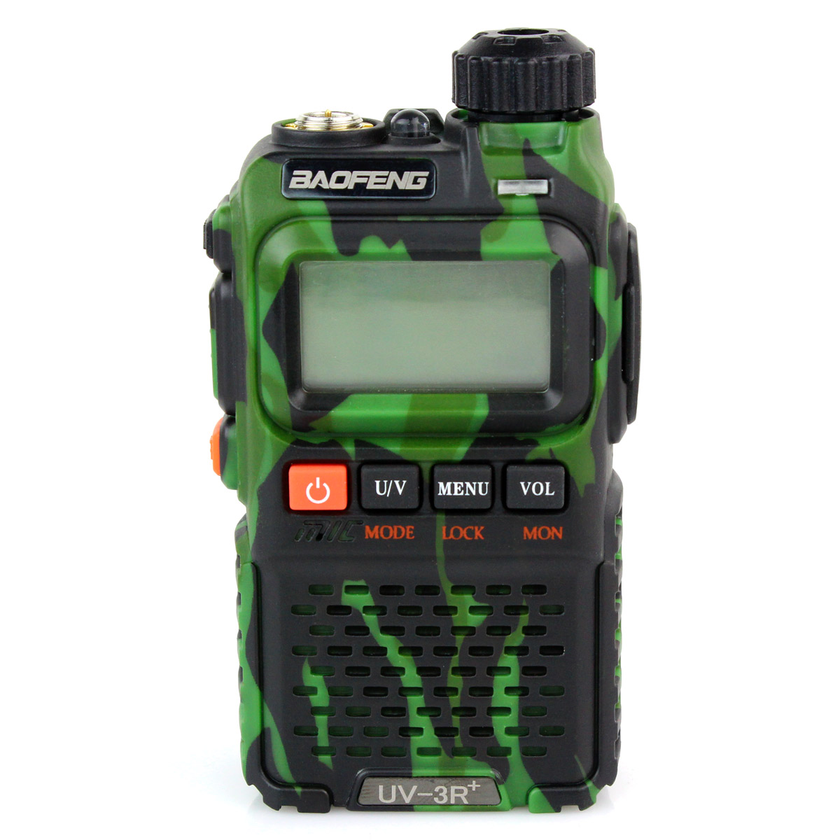 New Camouflage Green Walkie Talkie Baofeng UV-3R+ Dual Band 136-174Mhz 400-470MHz 3W 99CH DTMF VOX Two Way Radio
