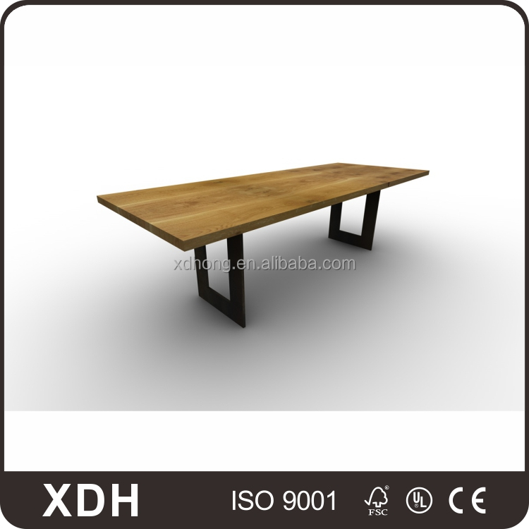 High quality square wood top metal table leg office desk