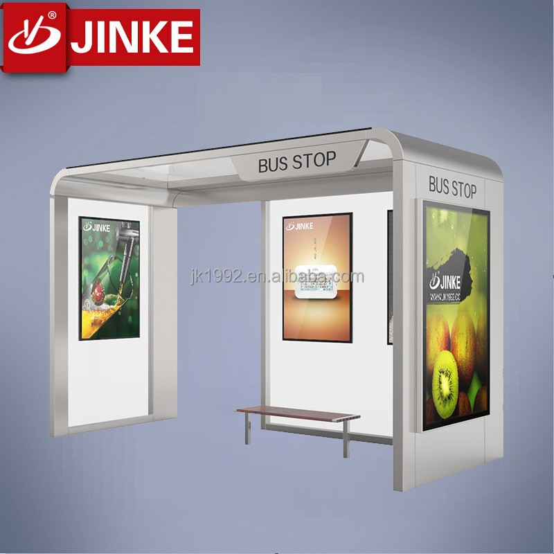 manufacturers standing structure solar power bus stop shelter