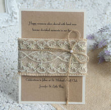 IC1504-03 Noble and Elegant Hot Sale New Design Handmade Wedding Invitation Card for Wedding Favors 2015