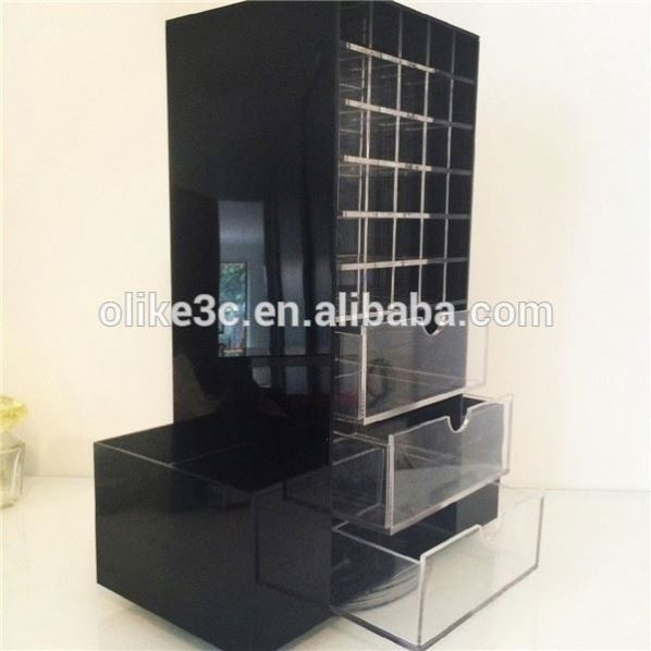 Wholesale Acrylic Cosmetic Makeup Organizer/Box with 3 Drawers