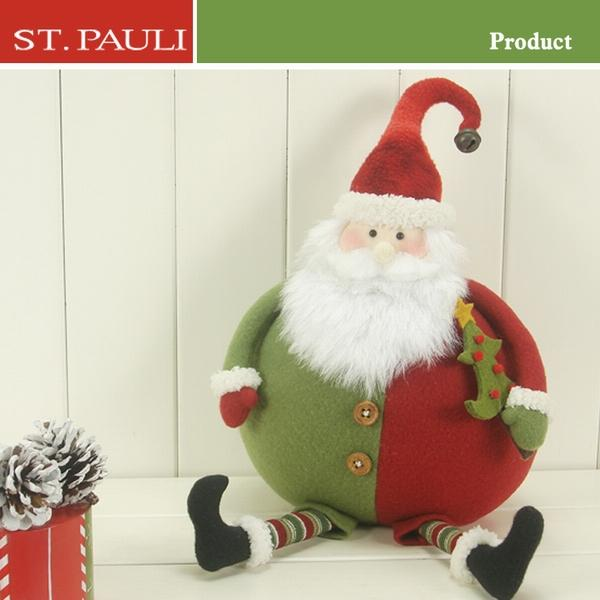 outdoor animated stuffed sitting santa claus fabric life size christmas decorations