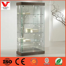 Easy assemble furniture design home decorative glass wall display cabinet showcase