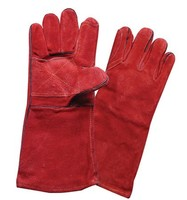 Cheap Cow split leather welding safety glove