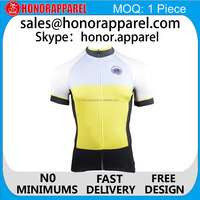 OEM favorable short sleeve cycling jersey breathable and quick dry sport shirt