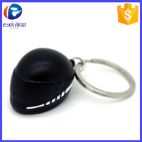 Promotion gifts custom metal colorful motorcycle helmet 3D keyring