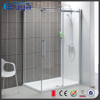 shower enclosure frameless sliding open, enclosed shower room