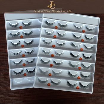Hot sale top quality handmade 3D real mink fur false eyelashes with custom package