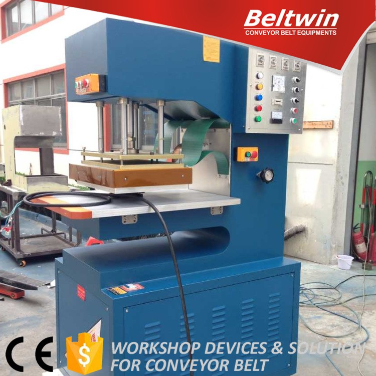 Beltwin PVC PU fabric conveyor belt plastic high frequency welding sidewall guide cleat machine