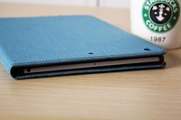 Luxury PU Leather Case Cover For Ipad2 Ipad3 Ipad4 Leisure Denim Wallet Protect Shell MPC-061
