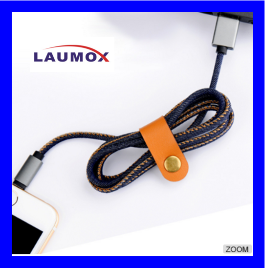 Fashion Fast Charger 1M Leather Jean Denim USB Data Cable for iPhone