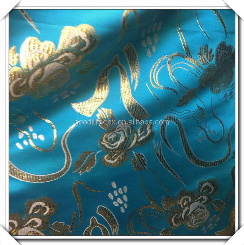Luxury brilliancy fabric polyester Brocade